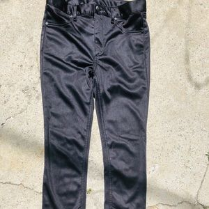 Rag & Bone Skinny Black Shiny Pants 27